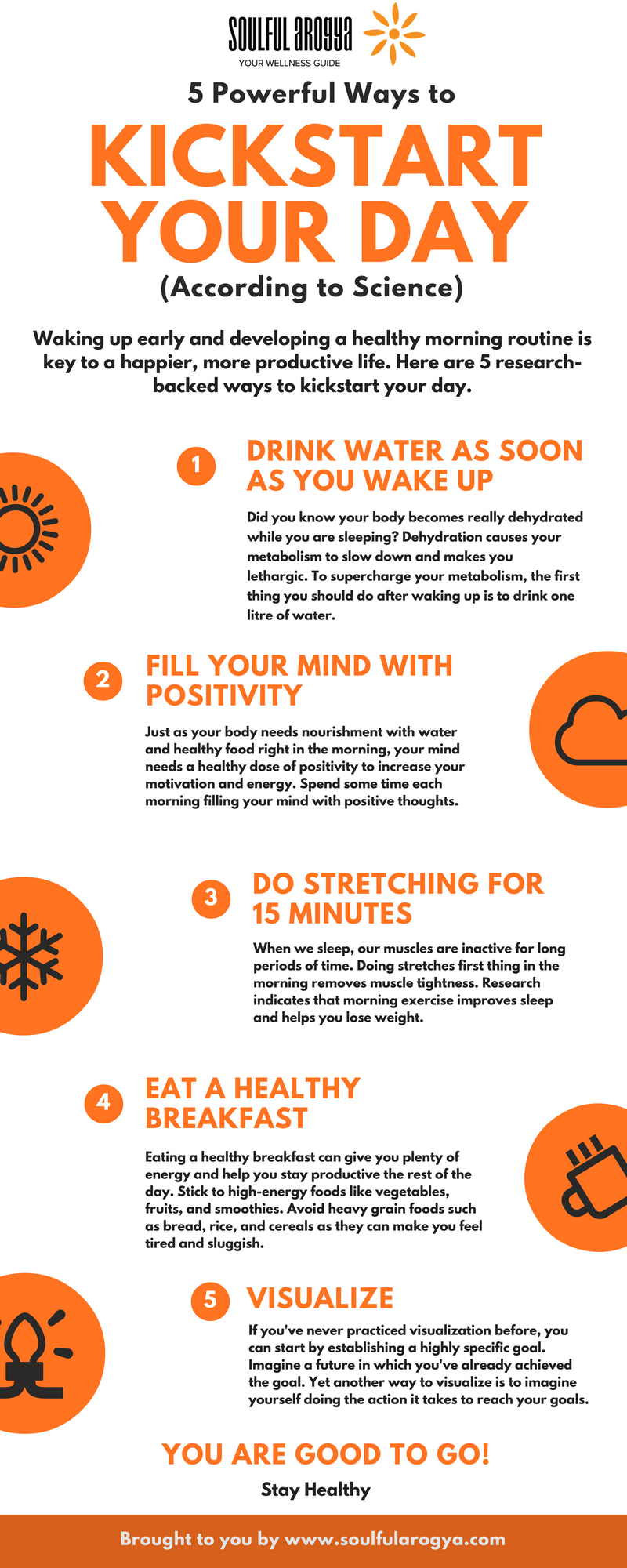 5 Powerful Ways to Kickstart Your Day [Infographic]