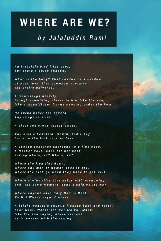 Where are we - Rumi