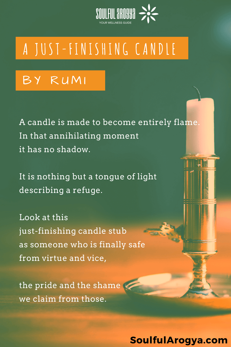 A Just-Finishing Candle by Rumi
