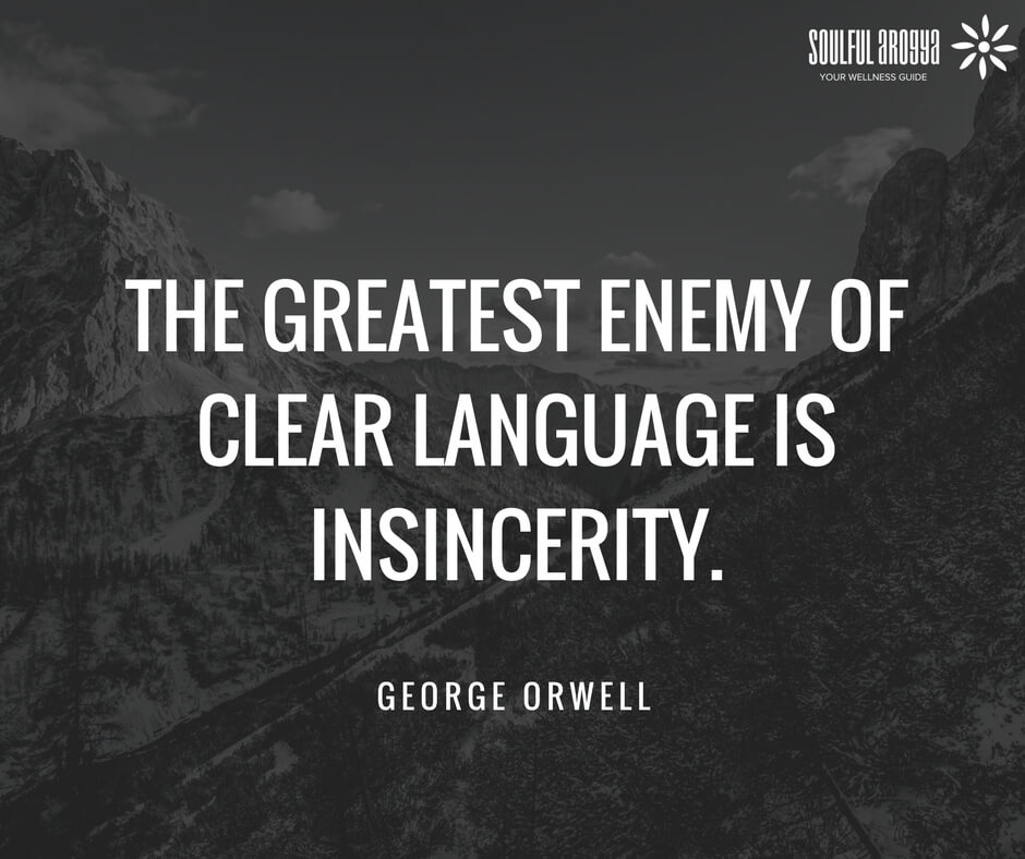 problems in the english language in george orwells article politics and the english language George orwell on writing politics and the english language  politics and the english language  it raises problems of construction and of language,.